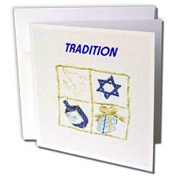 Florene Jewish Theme - Blue Gold Hanukkah With
