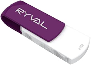 Ryval R360 Clé USB 64 Go Blanc/Violet