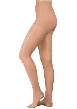 Juzo 2102AT10 I Naturally Sheer Compression Pantyhose 30-40 mmHg, Open Toe – Black by Juzo bestellen