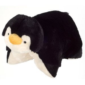 "PeeWee Penguin Pillow Pets - Black/White (11"") - 1"