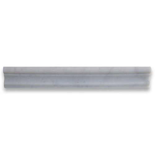 Carrara White Italian Carrera Marble Chair Rail Trim Molding 2 x 12 Honed