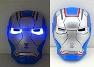 Amazon.com: True Heart Iron Man LED light face mask (Blue