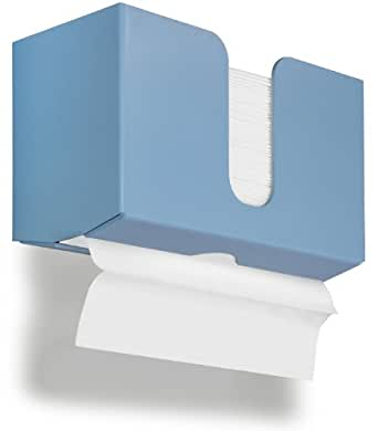 "TrippNT 51921 PETG Dual-Dispensing Paper Towel Holder, 10 7/8"" Width x 6 1/2"" Height x 4 1/4"" Depth, Peek-A-Boo Blue"