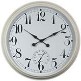 XXL Uhr weiß - 90cm