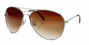 Lunettes de soleil Aviateur - Pilote - Fbi - Monture Or - Verre Chocolat - Fashion tendance retro vintage 80's