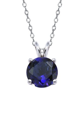 Authentic Blue Sapphire Color Cubic Zirconia Pendant 1.5 Carat Ttw.(chain Not Includ) Lowest Price Ever but Only for a Limited Time!