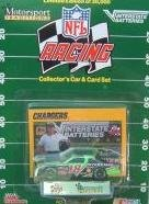1992 NFL Racing #18 Dale Jarrett/Joe Gibbs 1:64 Diecast Collector's NASCAR Car and Card Set - 1