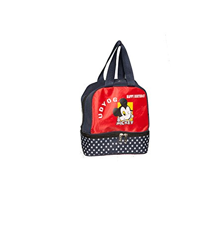 Red Udyog Red And Blue Mickey Bag (UDG0012) (Multicolor)