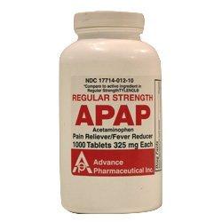 Acetamin Acetaminophen Tablets 325 Mg -1000 Ea