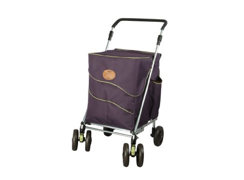 Sholeco Deluxe Shopping Trolley Brown