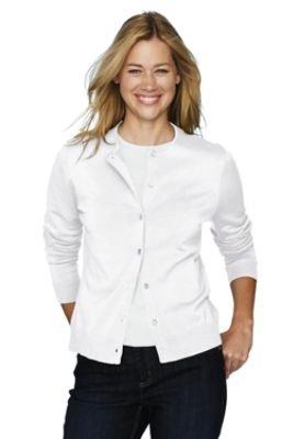 Women's Petite Fine Gauge Cardigan (UK Size 10 - 12, WHITE , 39108)