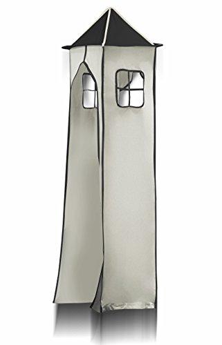 Tissu de La tour et son cadre métallique - Pirate (noir/beige) pour Lit surélevé - TGS-80