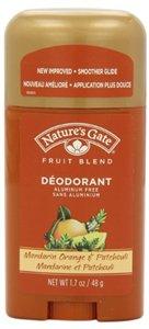Mandarin Orange & Patchouli Deodorant Stick, 1.7 oz, From Nature's Gate Organics ( Multi-Pack)