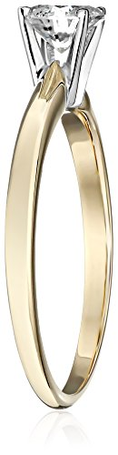 14k Round Solitaire Yellow Gold Engagement Ring (1/2cttw, H-I Color, I3 Clarity), Size 7