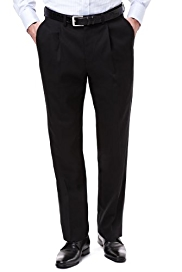 Big & Tall Collezione Luxury Pure Wool Single Pleat Trousers