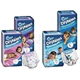 THREE PACKS of Huggies Drynites Pyjama Pants Boys 8-15 Years