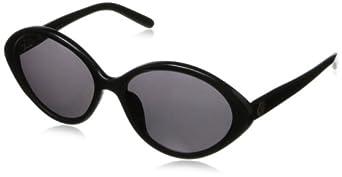 House of Harlow Women'S Myriam Iridium Oversized Sunglasses,Black Frame/Black Lens,One Size