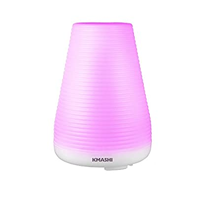 KMASHI Essential Oil Diffuser for Aromatherapy, 100ml Air Humidifier with Adjustable Mist Mode and 7 Colors Changing