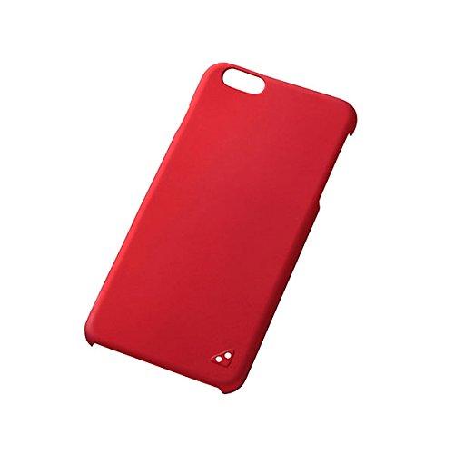 レイ・アウト iPhone6 Plus(5.5インチ)用 ラバーコーティング・シェルジャケット マットレッド RT-P8C4/R