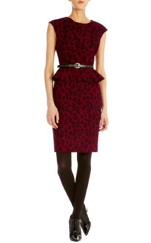 Leopard wool jacquard dress