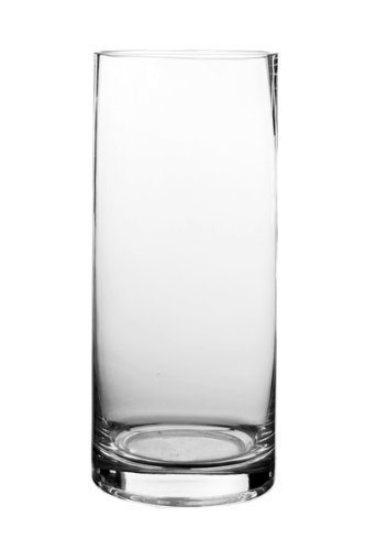 Koyal Wholesale 404338 12-Pack Cylinder Glass Vases, 4 By 12-Inch