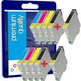 10 New Premium Quality High Capacity 100% Compatible ink cartridges for Epson Stylus Multipack 18 XL 18XL T1806 T1816 Expression Home XP 30 XP 102 XP 202 XP 205 XP 302 XP 305 XP 402 XP 405 Compatible with T1801 T1802 T1803 T1804 T1806 T1811 T1812 T1813 T