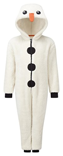 Animal-Crazy-Boys-Girls-Supersoft-Glitter-Fleece-Christmas-Snowman-Novelty-Onesie