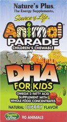 Nature's Plus Animal Parade® DHA Cherry -- 90 Chewable Tablets (Animal Parade Omega 3 compare prices)