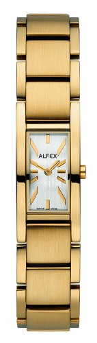 Alfex - 5631 _ 668 - Ladies Watch - Analogue Quartz - Grey Dial Gold Plated Steel Bracelet