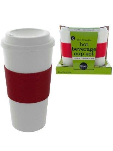 2 pack 16 oz hot beverage cup set
