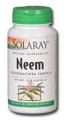 Solaray Neem, 475 mg, 100 Count