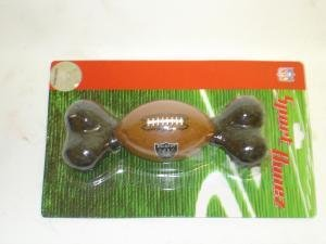 NEW! NFL Licensed Oakland Raiders Sport Bone Dog Toy