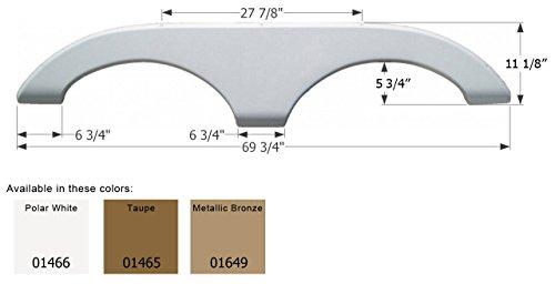 I 69 Trailer Fenders : Icon polar white quot tandem fender skirt
