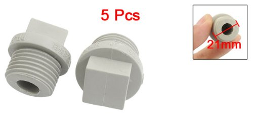 Pcs mm male thread gray ppr pipe end caps plug