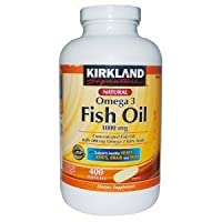 Kirkland Signature Omega-3 Fish Oil Concentrate 1000 mg Fish Oil with 30% Omega-3s (300 mg), Super Saver Pack , 1200 Tablet Value Pack by Kirkland Signature