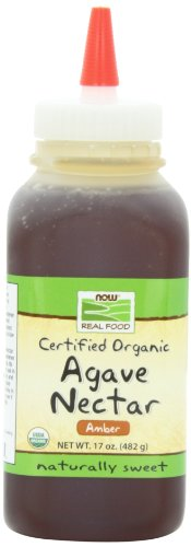 NOW Foods Organic Amber Agave Nectar,  17 Ounce Bottle (Pack of 4)