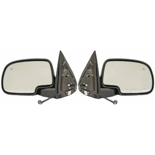 96-98 Grand Cherokee Power Heat Black Rear View Mirror Left Right Side Set PAIR