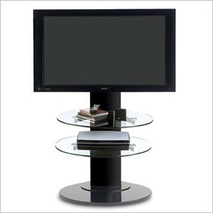 Cheap BDI Vista LCD/Plasma TV Stand with TV Mount and 2 Shelves in Black (9960B)