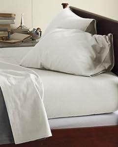 Garnet Hill Signature Cotton Flannel Sheets - Twin - Flat - Birch