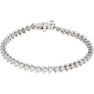 Diamond Line Bracelet 14K White 67501