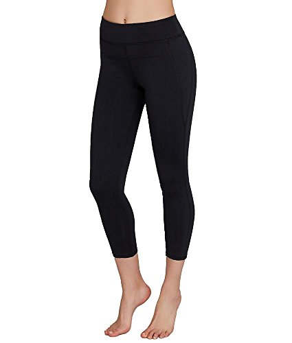 Calvin Klein Performance Women's Compression Panel Wide Waistband Ankle Legging, Black, X-Large