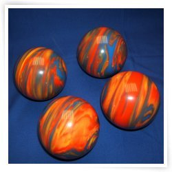 Premium Quality EPCO 4 Ball 107mm Tournament Bocce Set - Marbled Orange/Blue/...