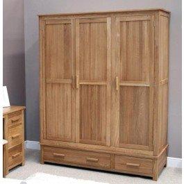 Opus Oak Triple Wardrobe