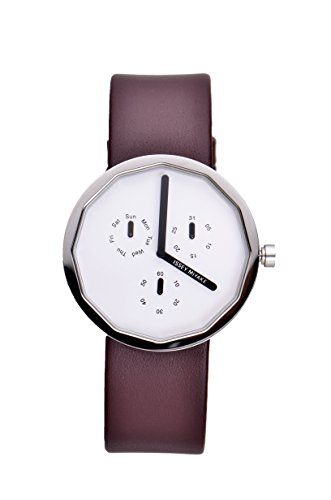 Issey Miyake Unisex Twelve Watch IM-SILAP017 With Brown Leather Strap