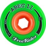 Abec 11 Freeride Centerset Green Longboard Wheels - 72mm 81a (Set of 4)