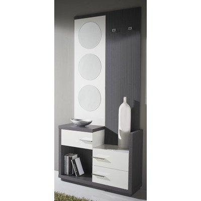 Garderoben-Set Farbe: Esche / Weiß