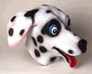 [Dalmatian Dog Latex Mask 101 Spots Movie Costume Accessory Prop White Black New] (Dalmatians Costume Makeup)