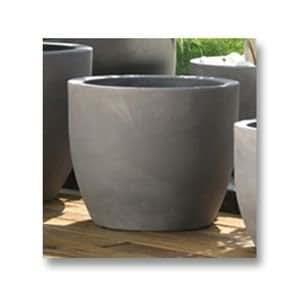 Pot de fleurs rond othello diam tre 52cm coloris gris for Pot jardin gris