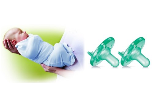 Summer Infant Newborn Swaddlepod With Philips Avent Green With Vanilla Scent Soothie Pacifier (2 Pack), Blue front-31445