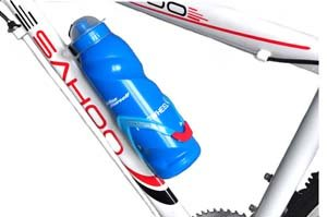 Cosmos ® Blue Bicycle Sports Plastic water Bottle with Anti-dust cover + Free Cosmos Cable Tie
